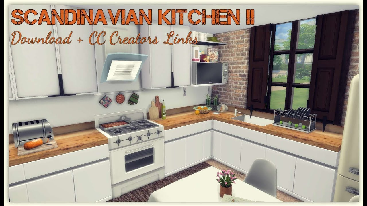 Sims 4 Scandinavian Kitchen Ii Download Cc Creators