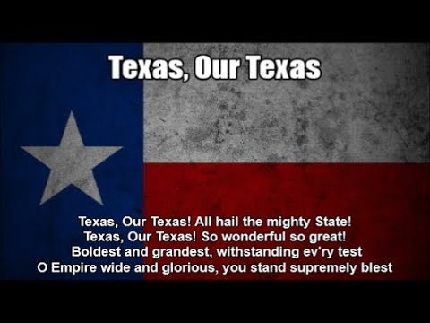 State Anthem of Texas, USA (Texas, Our Texas) - Nightcore Style With Lyrics