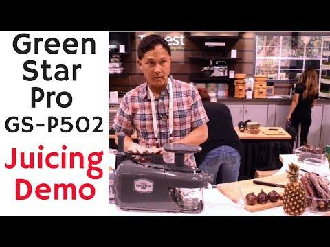 Green Star Pro GS-P502 Juicing Demonstration