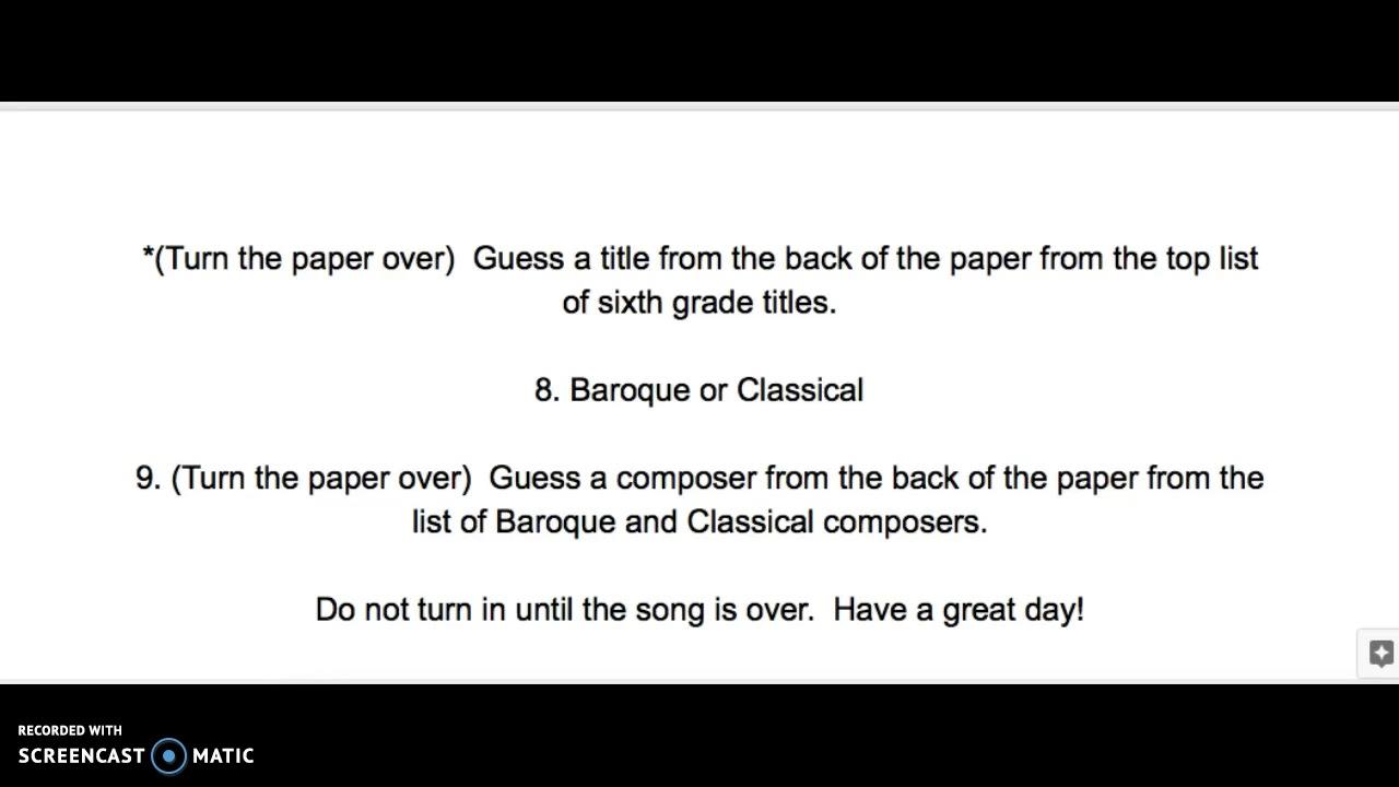 6th Grade Bell Work 2 - YouTube