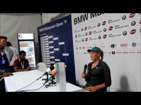 DONNA VEKIC MEDIA PRESS CONFERENCE AFTER FINAL-KUALA LUMPUR
