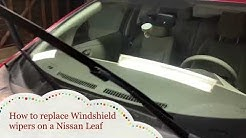 How to replace Nissan Leaf 🍃 windshield wipers! Quick and Easy!!