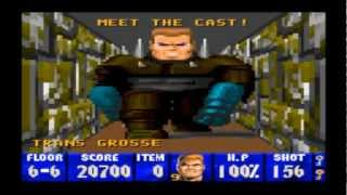 Wolfenstein 3D - SNES VERSION - 4 BOSSES + FINAL BATTLE + ENDING WALKTHROUGH