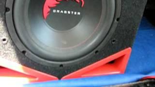 prova subwoofer dragster 30cm 300watt rms