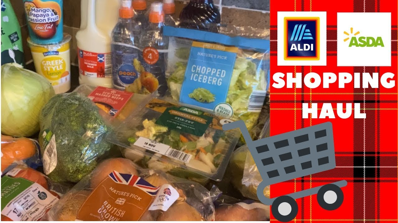 Whats Being Bought For Tea This Week Aldiasda Grocery Food Shopping Haul 14th November