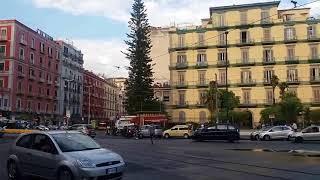 Naples ( Napoli) City Street walking and Vulcano buono Shopping mall