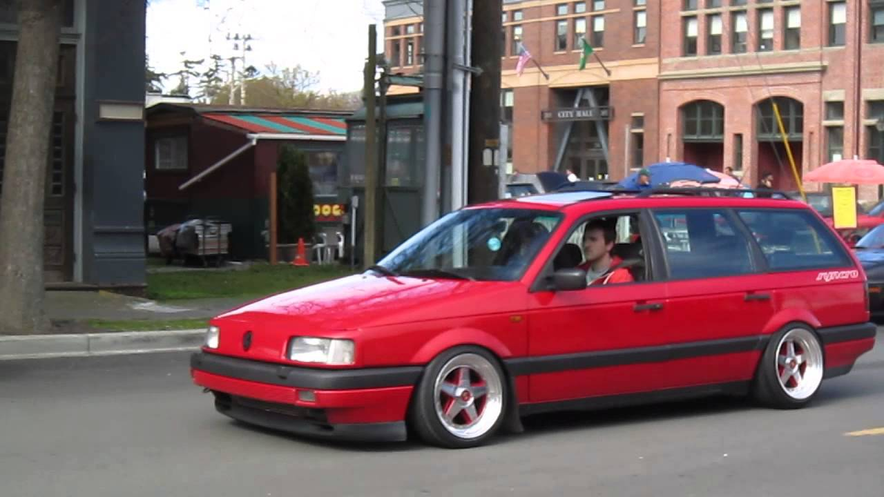 vw b3 passat syncro on porsche gotti wheels roll by in the city youtube. Black Bedroom Furniture Sets. Home Design Ideas