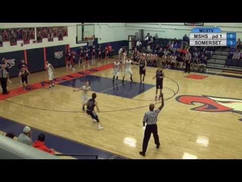Madison Southern High School boys basketball vs SomerSet 01 30 17