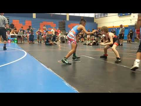 Championship wrestling tournament Kalaheo high school  Jahlijahs 2nd match