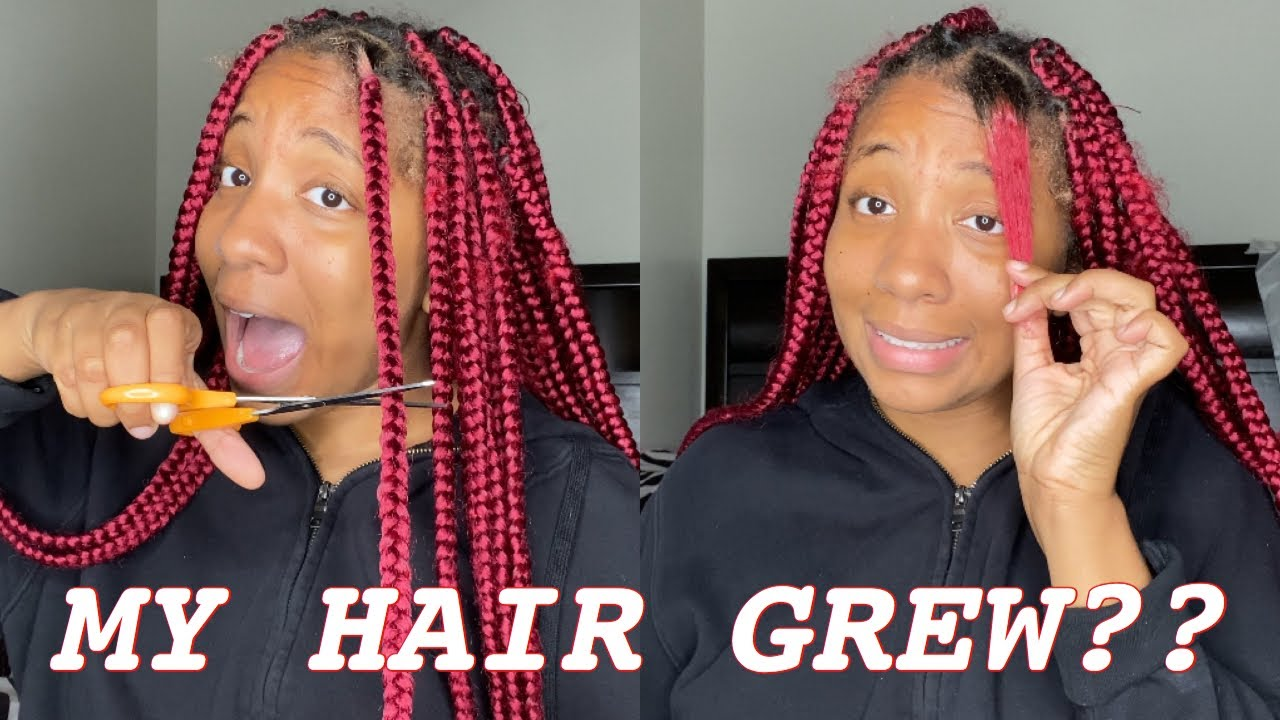 Taking Out My Month Old Box Braids (New Growth + Build Up)