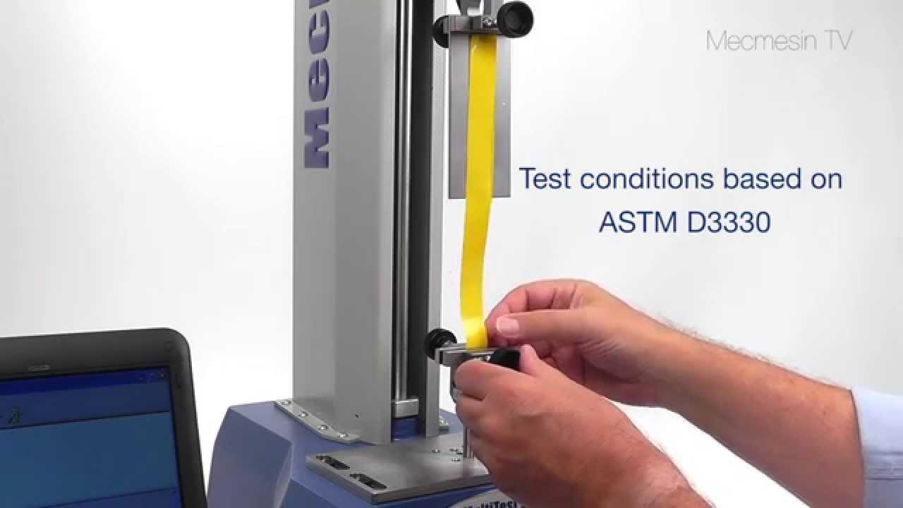 Astm D3330 Test Method A 180 176 Peel Test On Single Coated