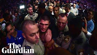 Khabib Nurmagomedov apologises for chaotic brawl but accuses McGregor of disrespect