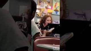 Teacher listens to act up city girls from tik tok