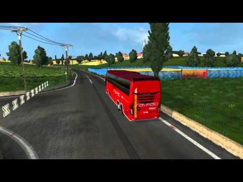 Euro Truck Simulator 2 Bus trip to Łódź with Mascarello Roma 370 FINAL