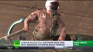 Frontline report: Inside Syrian army air base