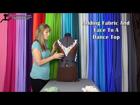 Adding Fabric and Lace to a Dance Top
