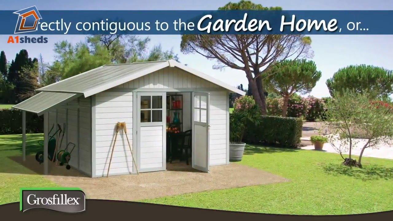 Attractive Grosfillex Plastic UPVC Garden Sheds