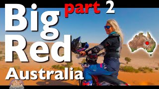 Honda Africa Twin CRF1000 to Birdsville Big Red Desert ride 2 of 3 Husqvarna 300 2 stroke  Betoota