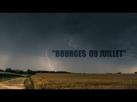Orage  matinal Bourges 09 juillet 2017