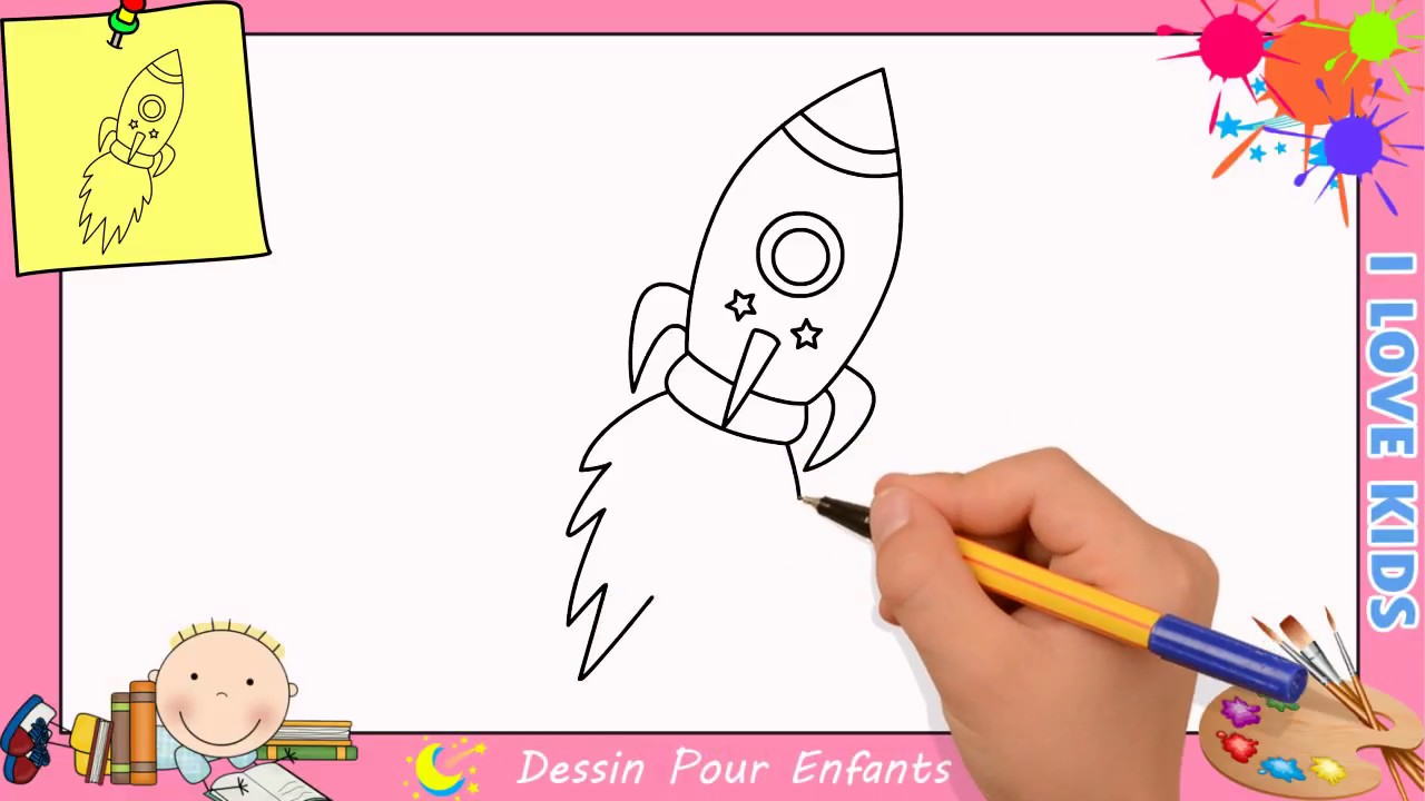 Comment dessiner une fus e facilement etape par etape pour enfants 1 youtube - Dessiner une fusee ...
