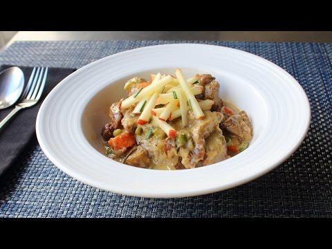 Creamy Pork Stew - Pork Stewed with Cider and Cream - Easy Autumn Stew Recipe
