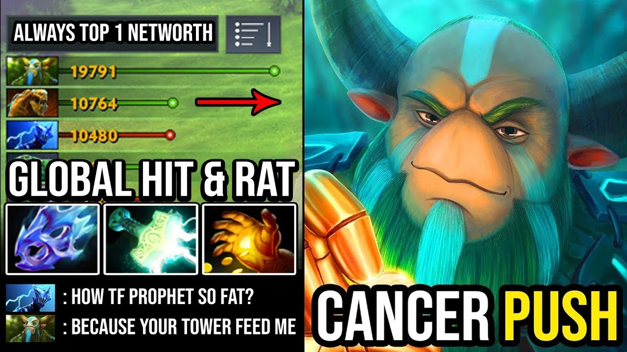 100% NEW CANCER META Mid Nature's Prophet Global Rat Army EZ Outfarm Everyone in 7.23e DotA 2