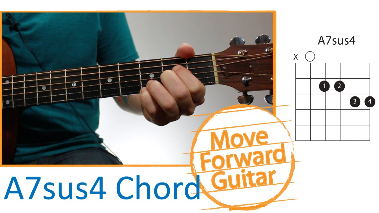 Guitar Chords For Beginners A7sus4 Youtube