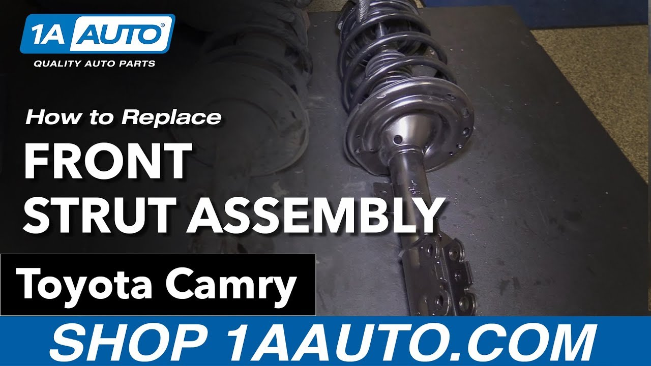 hight resolution of how to replace install front strut assembly 07 11 toyota camry