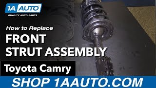 How to Replace Install Front Strut Assembly 07-11 Toyota Camry