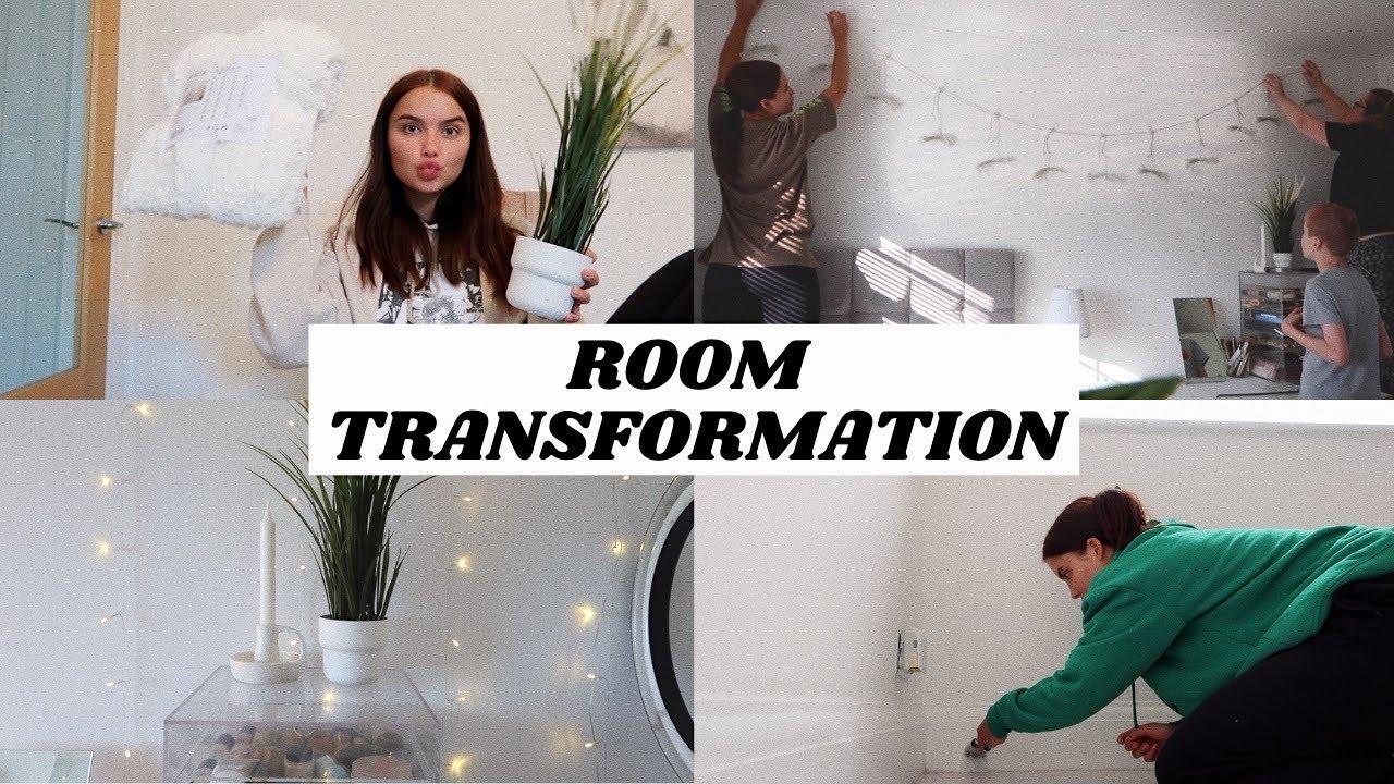 BEDROOM TRANSFORMATION VLOG!! IKEA HAUL & MINIMALISTIC VIBES   Adina May