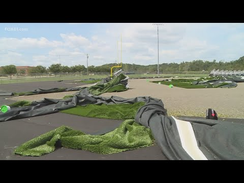 East Haven High school football field destroyed by storm
