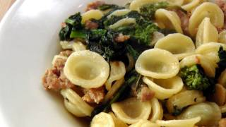 Orecchiette With Sausage And Broccoli Rabe Recipe - By Laura Vitale - Laura In The Kitchen Ep140
