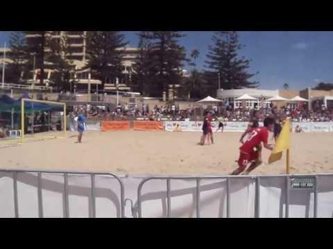 Thailand - Australia, Aust Beach Soccer Cup, North Wollongong Beach, N.S.W. Australia. 8th Dec 2013.