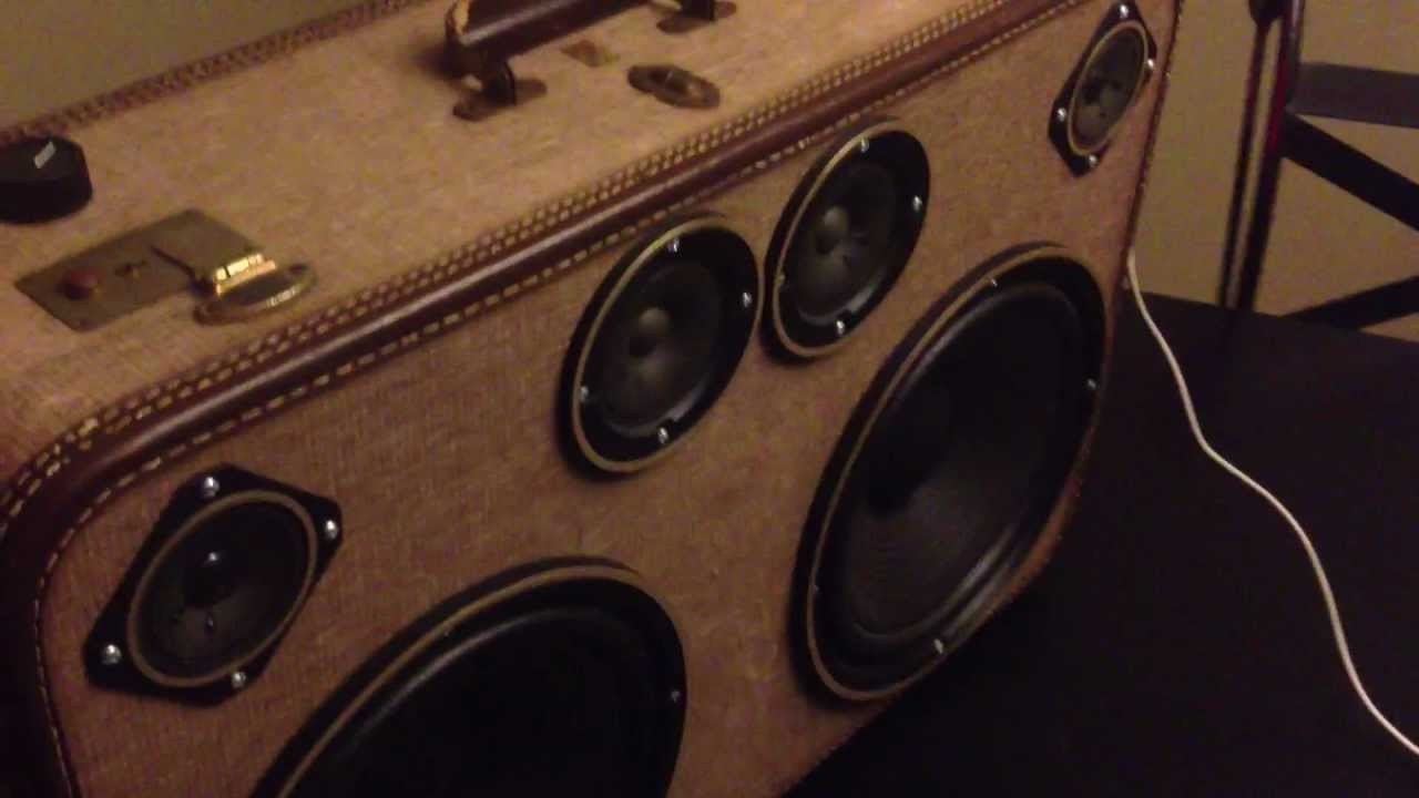 First look at the vintage suitcase boombox from Hi-Fi Luggage *FOR ...
