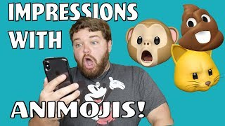 Doing Impressions with Animojis!