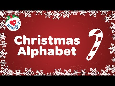 Christmas Alphabet | Christmas Song with Sing Along Lyrics 2018