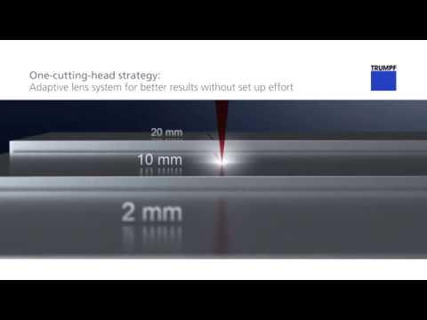 TRUMPF laser cutting: TruLaser – one-cutting-head strategy