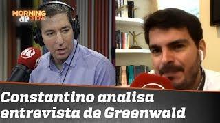 """Glenn Greenwald faz campanha contra a Lava-Jato e Sergio Moro"", diz Rodrigo Constantino"