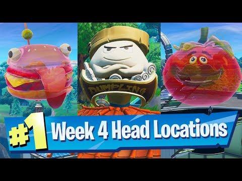 Dance Inside A Holographic Tomato, Durrr Burger + Dumpling Head - Fortnite Season 9 Week 4 Challenge