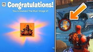 As UNLOCK PHASE 2 SKIN RUINA LOCATION KEY in Fortnite...