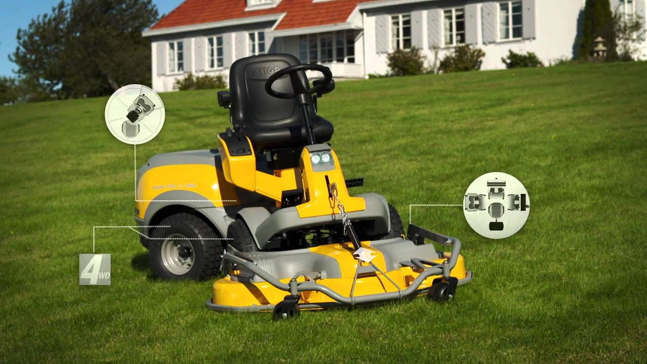stiga park front mower youtube. Black Bedroom Furniture Sets. Home Design Ideas