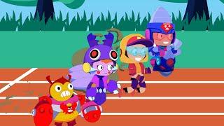 Brawl Stars Animation TICK x BEA x MAX x JACKY - Who Runs Fastest???