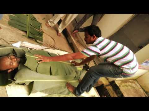 Natural Detoxification Banana Leaf Treatment @ Nadipathy - Kakinada