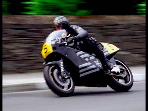 Retro TT On Bike ACTION! Trevor Nation - JPS rotary Norton