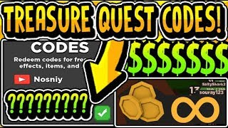 """ALL NEW TREASURE QUEST RELEASE UPDATE CODES 2019!!"" Treasure Quest [NEW] RELEASE Update (Roblox)"