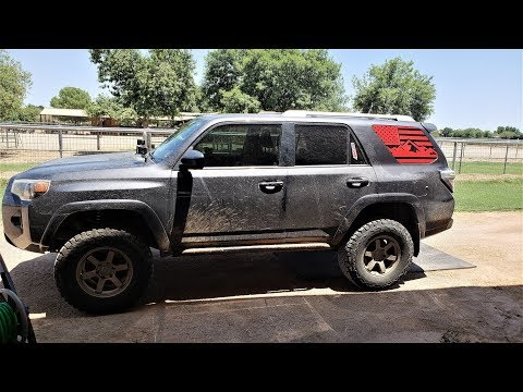 How To Install American Flag Sticker On A 5th Gen 4runner