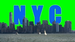 New York City Skyline Green Screen Video Effects