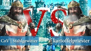 Stronghold Crusader 2 Tournament - CoV | Stahlgewitter vs kartoffelpriester | QUARTERS