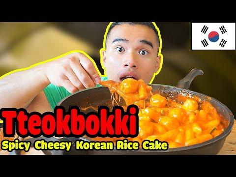Tteokbokki | SPICY CHEESY Korean Rice Cake | MUKBANG| QT