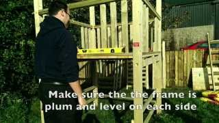 How To Construct Our Double 6ft Children's Outdoor Wooden Climbing Frame